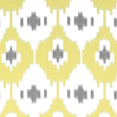 Panarea Ikat Sheer Fabric A beautiful double width sheer fabric with a large scale ikat design embroidered in yellow and mid grey on an ivory ground. A fresh addition to contemporary interiors.