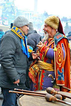 Ukrainian Cossack demonstrators - Kyiv, Maidan