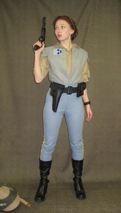 What Princess Leia was wearing under her poncho on the Endor Moon. -- from Imgarcade.com