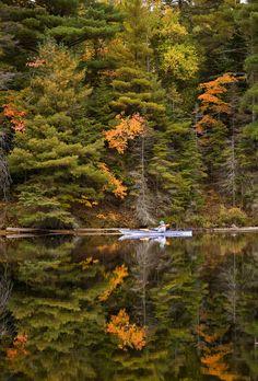 Tea Lake Dam, Algonquin Provincial Park, Ontario by Thomas McGory, via 500px