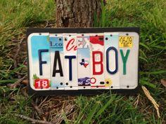 FAT BOY Custom Recycled License Plate Art Sign by CustomPlateArt4U, $25.00