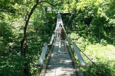10. Check out the swinging bridge in Columbus Junction, but don't look down!