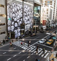 JR at the Watari Museum in Tokyo | JR - Artist: JR's first solo museum exhibition opened on Saturday in Tokyo, Japan, at the Watari Museum of Contemporary Art. A large pasting was realized on the outside facade also. Open until June 2nd. Check out the museum views here.
