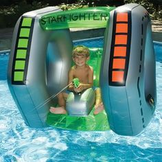 Swimline Star Fighter Squirter Pool Float Mfc: Swimline Swimline 90753 Star Fighter Squirterfeatures: Inflatable Ride-On Squirter Cool Futuristic Graphics Sunroof Constant Supply Water Blaster Inflatable Pool Toys, Inflatable Island, Inflatable Float, Giant Inflatable, Swimming Pool Toys, Swimming Holes, My Pool, Pool Fun, Beach Pool