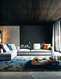 Minotti living. #interior #design #stylish #living #Architecture #Decoration #Arquitetura #Decoração #InteriorDesign #Minotti