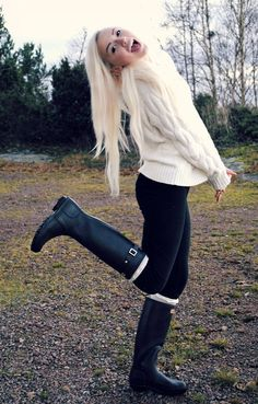 Sweaters and boots