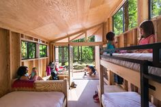 The Wedge - Small Cabin - California State PolyTechnique University - Interior - Humble Homes #prefab #bunkbeds #cabinlife
