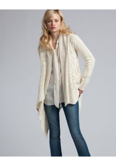 Mmmmm, cozy. Legend Crochet Patchwork Shawl.  Lucky Brand.