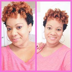 Natural hair Tapered cut Twa Twist Hair Twist out
