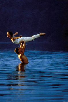 """The Lift,"" Dirty Dancing, 1987 How many times did I make people lift me like this in the swimming pool?"
