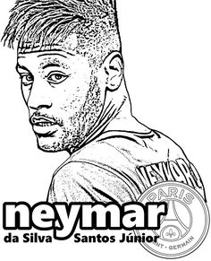 Neymar PSG Coloring Pages. Neymar is a brazilian soccer player who is playing in PSG. Here is 5 unique coloring pages for Neymar JR. Unique Coloring Pages, Super Coloring Pages, Coloring Pages To Print, Colouring Pages, Coloring Pages For Kids, Coloring Sheets, Coloring Books, Football Coloring Pages, Sports Coloring Pages