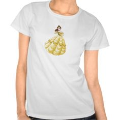 Beauty and the Beast Belle gown holding flower T-shirt