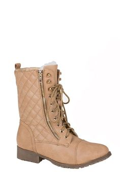 Faux Fur Lined Quilted Ankle Boots - Boots - Shoes  http://jessyss.com/shoes/boots/1383501743.html?barva=