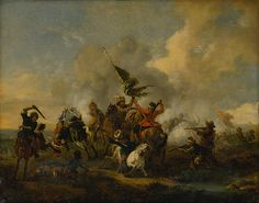Cavalry battle, 1730/1750. Slovak national gallery, CC BY