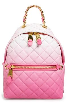 Moschino 'Letters' Dégradé Quilted Nappa Leather Backpack available at #Nordstrom