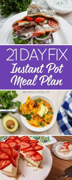 My two favorite things: 21 Day Fix and the Instant Pot. What better way to combine them than a 21 Day Fix Instant Pot meal plan. via @bludlum