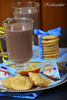 Koskacukor: Sajtos, bazsalikomos keksz és forró csoki amarettoval Cereal, French Toast, Breakfast, Recipes, Food, Morning Coffee, Essen, Meals, Eten