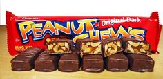 """If you don't like Peanut Chews… you're nuts! These delicious morsels of """"peanuts and molasses covered in chocolatey coating"""" are made by BCTGM members."""