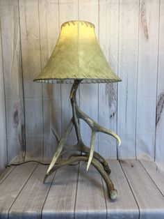 Deer Antler Lamp Made From Real Antlers Deer Antler Lamps, Something Just Like This, Shed Antlers, Shaving Set, Bronze Finish, Old Things, Antiques, Etsy, Antiquities