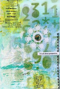 by Ronda Palazzari. Her blog has lots of tutorials for crafts, cards, techniques.