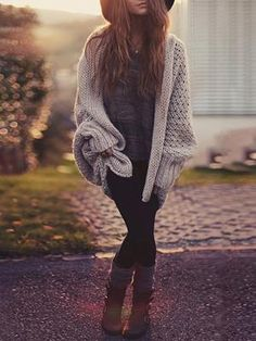 Autumn Knitted Loose Sweater Cardigans (M) $32.99
