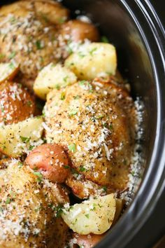 Parmesan makes everything taste better and this chicken-and-potatoes meal is no exception. Get the recipe at Damn Delicious.