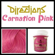 Directions -- Carnation Pink Carnations, Hair Colour, My Hair, Colours, Pink, Style, Swag, Stylus, Hot Pink