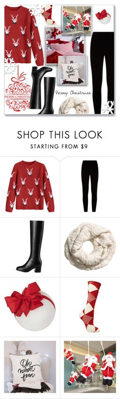 """""""How to wear a Christmas Sweater! #2"""" by disco-mermaid ❤ liked on Polyvore featuring Eileen Fisher, Burberry, Christmas, Leather, booties and sweaterweather"""