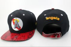 MLB Los Angeles Anaheim Snapback Hats Caps New Era Red Snakeskin  5711! Only $8.90USD