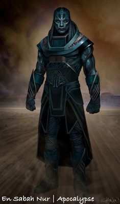 X-Men Apocalypse concept art Marvel Concept Art, Marvel Fan Art, Marvel Vs, Marvel Heroes, Mundo Marvel, Kang The Conqueror, Xmen Apocalypse, Comic Villains, Black Comics
