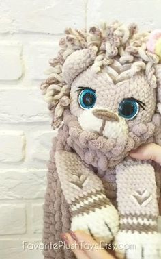 Crochet Lion PATTERN Amigurumi lion tutorial BIG LION, Toy 20 inch, Lovey animals pattern, stuffed THIS PATTERN INCLUDES: - 41 pages of detailed description 70 high-quality photos -two options for the design of the muzzle-with closed eyes and with o. Crochet Deer, Crochet Rabbit, Crochet Mouse, Crochet Animal Patterns, Crochet Patterns Amigurumi, Stuffed Animal Patterns, Crochet Doll Tutorial, Plush Pattern, Closed Eyes