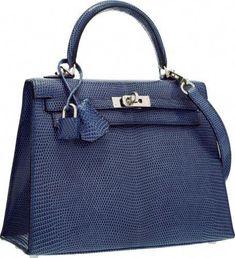 Hermes 25cm Blue Brighton Lizard Sellier Kelly Bag with PalladiumHardware.   Hermeshandbags Birkin Purse 415df740cd