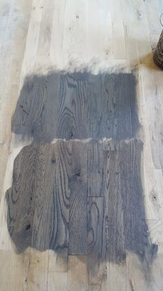 Top is Duraseal Classic Gray bottom is duraseal Jacobean/Classic Gray 50x50.. on new white oak floors
