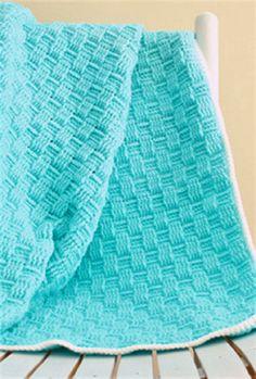 Crochet Basket Weave Baby Blanket