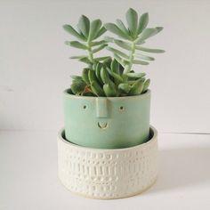 Acho que encontrei os vasos de cerâmica mais perfeitos do mundo para umpequeno jardim de apartamento, o único problema é que eles estão um pouq