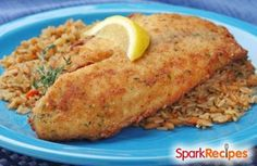 This quick, easy, inexpensive and surprisingly cheesy baked tilapia recipe can be made with any white fish. I just happened to have tilapia handy.