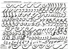 Diwani Jali Script - Arabic Calligraphy - Letters by anime-master-96