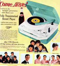 Vintage record player recordplayer turntable music records