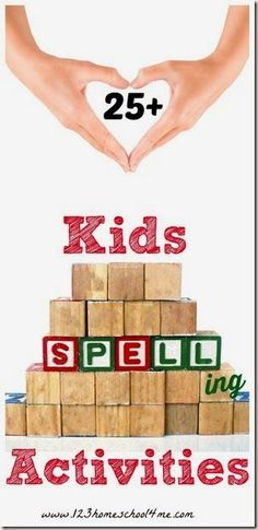 25 kids spelling activities for kids - so many fun, easy-to-do spelling ideas… 3rd Grade Spelling, Spelling Help, Spelling For Kids, Spelling Activities, Spelling Words, Spelling Ideas, Spelling Games, Spelling Homework, Language Activities