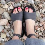 DIY Espadrille Shoe ~ recycled flip-flop & t-shirt
