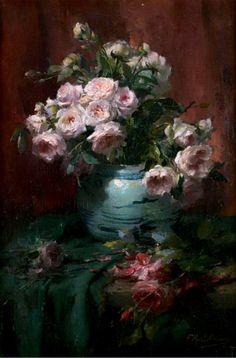 ❀ Blooming Brushwork ❀ - garden and still life flower paintings - Frans Mortelmans.