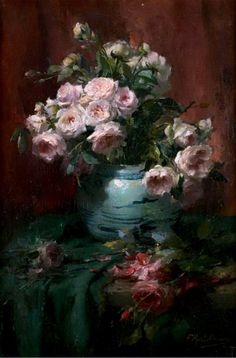 ❀ Blooming Brushwork ❀ - garden and still life flower paintings - Frans Mortelmans.