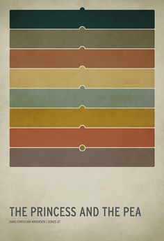The princess and the pea. Minimalist Fairytale posters by Christian Jackson