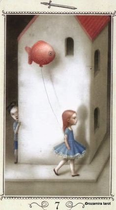 Nicoletta Ceccoli - Illustration - Tarot - seven of swords