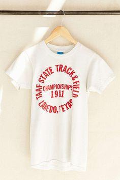 mens t-shirts at kmart Vintage Band Tees, Vintage Tee Shirts, Tee Shirt Designs, Tee Design, Track And Field, Graphic Shirts, College Outfits, Printed Tees, Sports Shirts
