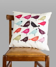 15 birds cushion by Jane Ormes by janeormes on Etsy https://www.etsy.com/listing/212680388/15-birds-cushion-by-jane-ormes