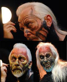 Rick Baker Basil Gogos type Zombie Makeup sfx special effects #specialfx #specialeffects makeup #face effects #unwoundfx