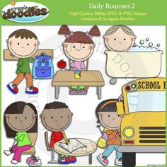 Daily Routines 2 Clip Art - Click Image to Close