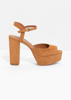 & Other Stories | Suede Platform Sandals