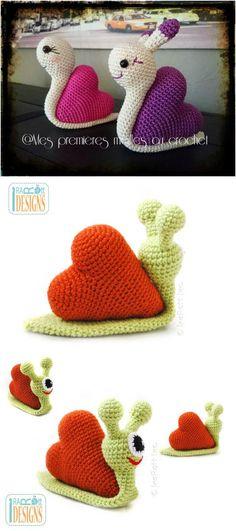 Diy Crochet Snail Amigurumi Free Patterns With Crochet Amigurumi Snail Patterns Click below link for free pattern: Source: Crochet Amigurumi Chat Crochet, Crochet Diy, Crochet Amigurumi, Love Crochet, Crochet Gifts, Crochet For Kids, Amigurumi Patterns, Beautiful Crochet, Crochet Dolls